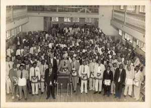 Members of the Prince Hall Grand Lodge of Louisiana, 1950s.