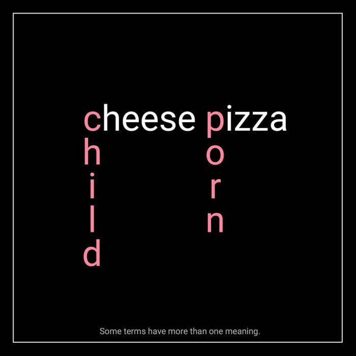 CheesePizza=ChildPorn