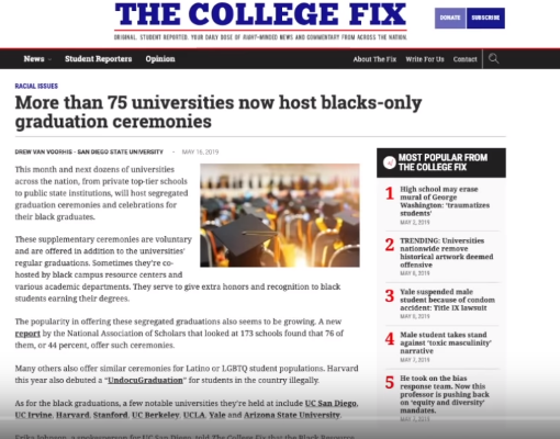 Universities across America are nothing but Indoctrination Camps:  University offers 'Problematizing Whiteness' course | The College Fix